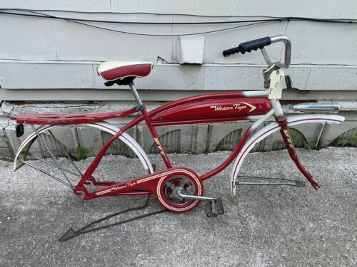 Western Flyer 1950's Bicycle Original Condition Red No Rims (Used - 1499.99 USD)