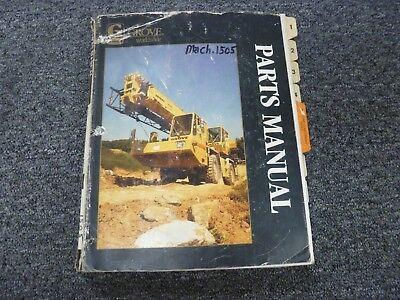 Grove Model Rt75s Rough Terrain Crane Parts Catalog Manual Book