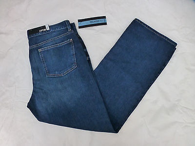 Nwt Mens Apt  9 Relaxed Fit Bootleg Jeans Ma53d601qw  50 Nickalaus