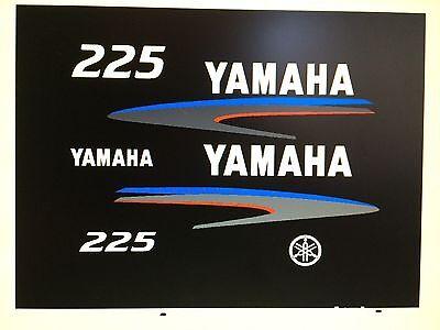 Yamaha Outboard Motor Decal Kit 225  hp 2 Stroke Kit - Marine Vinyl not ink-jet