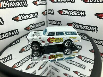 Hot Wheels '64 Chevy Nova Wagon Gasser - SUPER CUSTOM Real Riders Hooker Headers