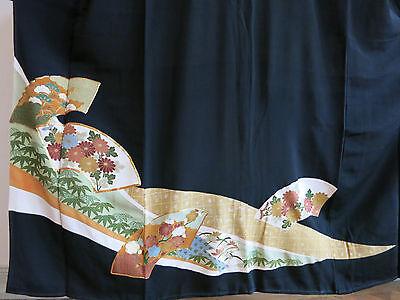 Kimono Tomesode Seide aus Japan Chirimen Seide Art Deco handgenäht