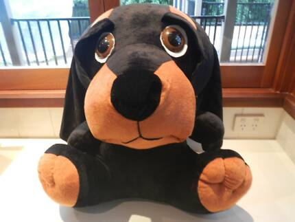 STUFFED DOG TOY CUDDLY FRIEND LOOKING FOR A FUREVER HOME .. WOOF