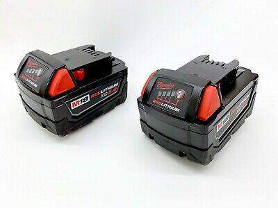 Genuine Milwaukee 48-11-1852 48-11-1850 M18 18V Lithium XC Battery 2-Pack 5.0Ah