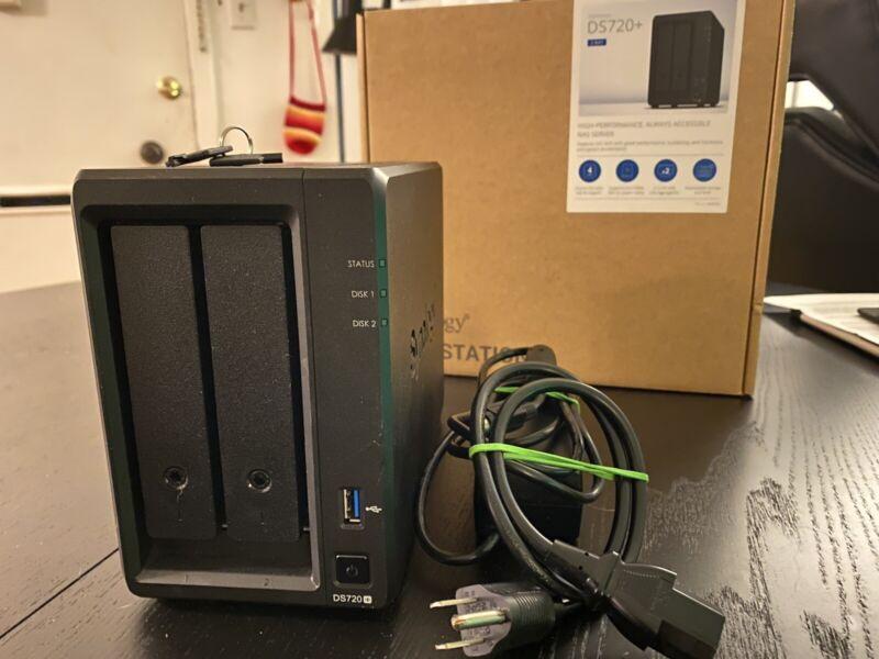 Synology DS720+ 2 Bay NAS Server Storage Array Upgraded 10GB RAM Diskless