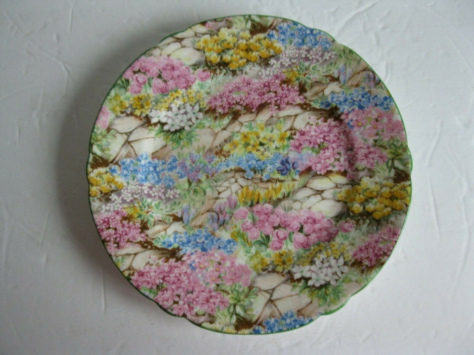 ANTIQUE SHELLEY CHINTZ ROCK GARDEN BREAD AND BUTTER PLATE 6 IN. - $29.00