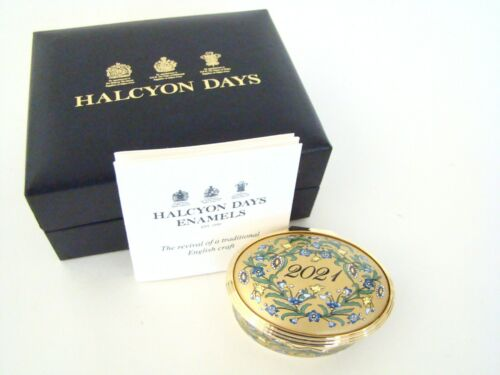 Halcyon Days Enamel Annual Year Box 2021 with box and COA NEW MINT