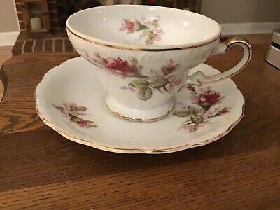 UCAGCO MOSS ROSE Porcelain CUP  Set Made In Japan VINTAGE VGC