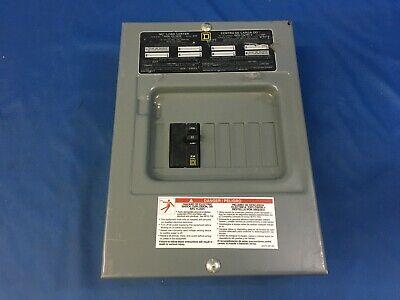 Square D Qo6-12l100s Load Center 100amp 240v Max 6-space 12-circuit