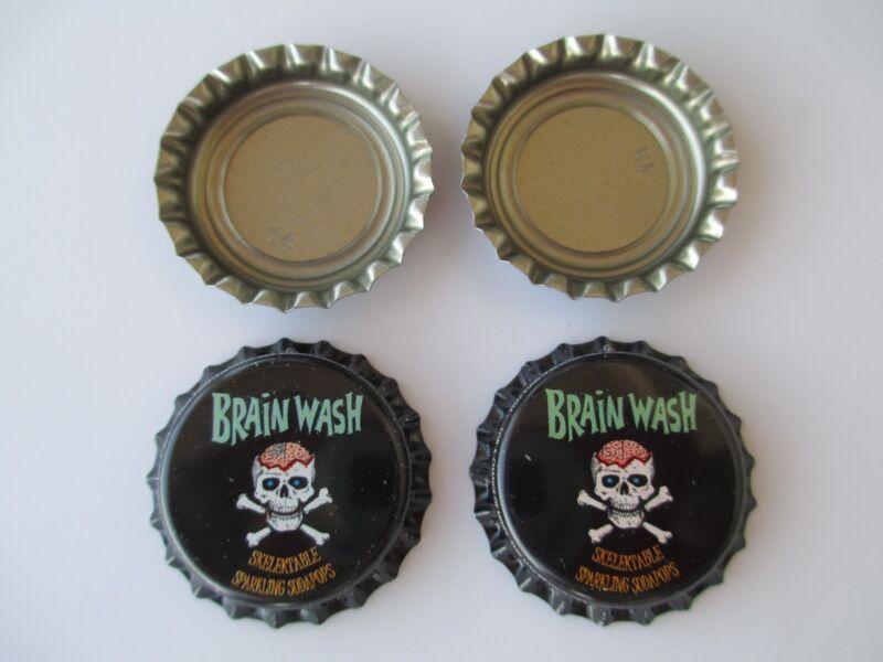 100 Uncrimped (( Brainwash )) soda bottle cap-crowns. Soda/Beer Category
