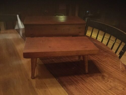 Antique Wooden Stool Bench Step Stool with Provenance Farm Country Kitchen 12""