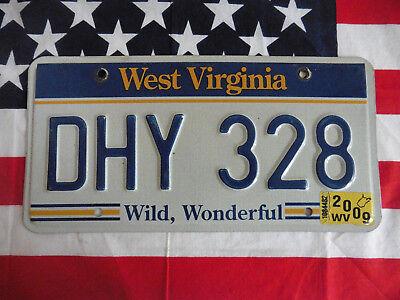 US WEST VIRGINIA DHY328 WILD AUTO CAR KENNZEICHEN NUMMERNSCHILD PLATE TAG OF USA