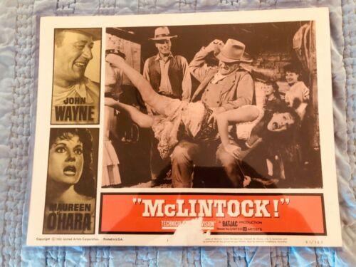 MCLINTOCK LOBBY CARD JOHN WAYNE