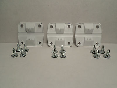 OEM Coleman Cooler Ice Chest Replacement Hinges 3 Hinges & Screws 5256-1851