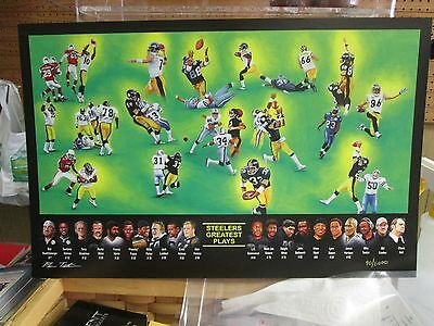 Pittsburg Steelers  Greatest Plays lithograph 11 x 17  print