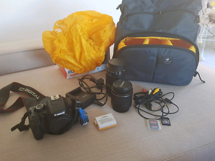 Canon EOS 550D with Kata backpack DR-466 G