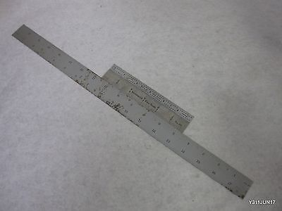 Lot Of 3 Precision Steel Rulers Usa Mitutoyo 182-203 6