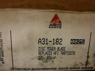 Agco Disc Mower Blades. Brand New Box Of 25 A31-182. 2-box Pack