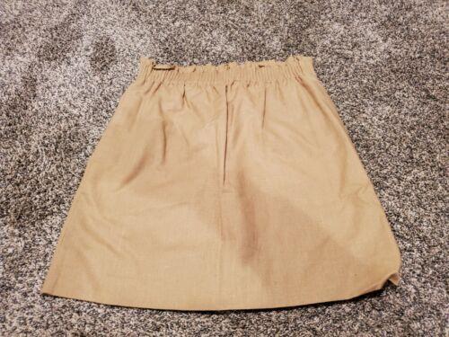 NWT J Crew Linen Blend Sidewalk Pull On Skirt Khaki 0