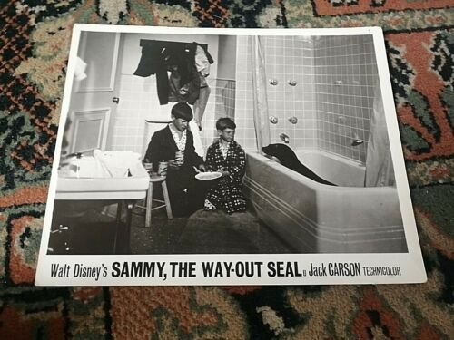 "sammy the way out seal very rare walt disney lobby card 1962 press photo 10"" 8"""