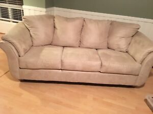 Microfibre Sofa Couch, Almost Like New
