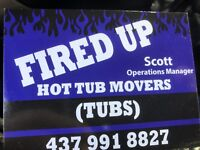 HOT TUB MOVERS MOVING MOVE AND REMOVALS