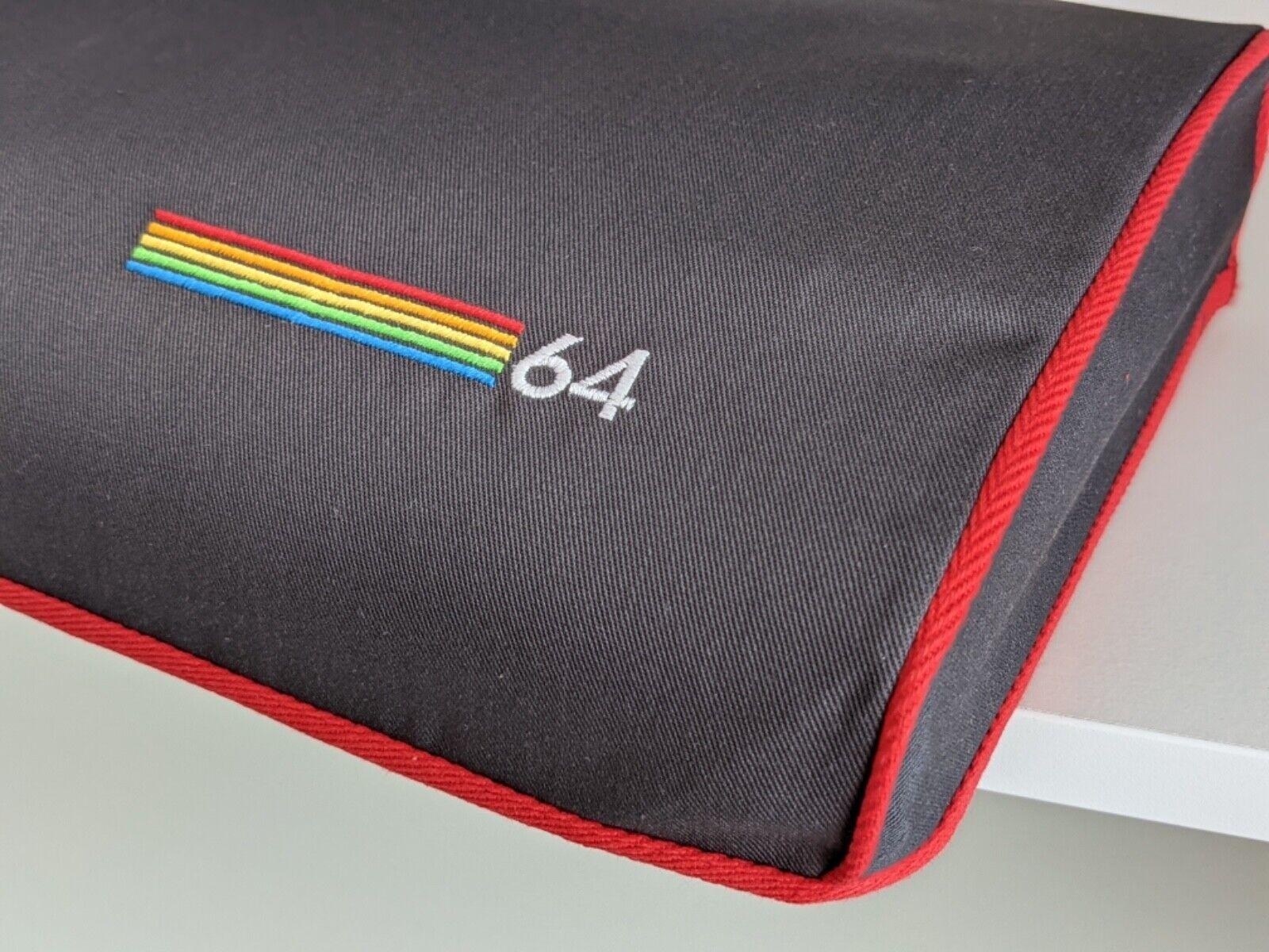  COMMODORE C64 BREADBIN - dust cover- grey cotton …