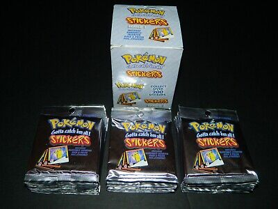 Pokemon ARTBOX Series 1 Stickers Booster Box - 30 Packs / Box - NEW / SEALED