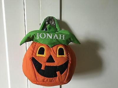 Lillian Vernon  Jack-o'-Lantern HalloweenTreat Basket personalized for Jonah - Personalized Halloween Basket