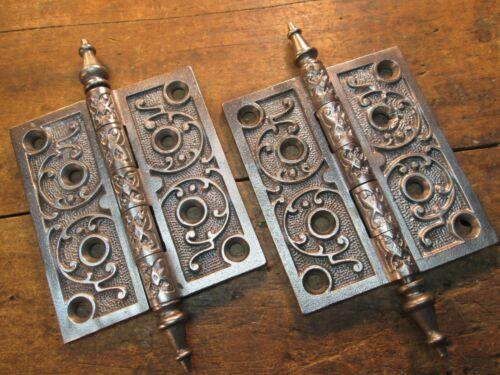 ONE  PAIR  4  X  4 1/2  ANTIQUE  DOOR  HINGES