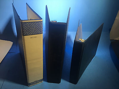 Mixed Lot Of 3 2x 2 Roundslanted Ring 1x 1 Round Office Document Binders