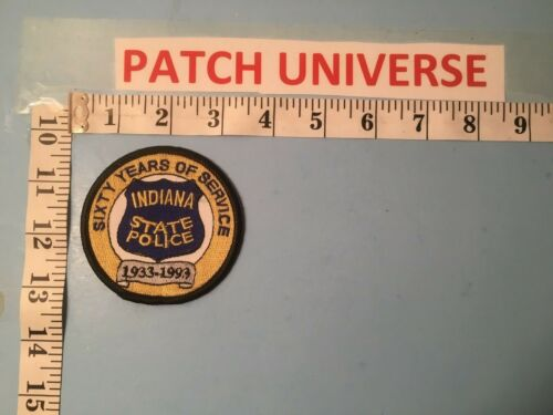 SIXTY YEARS OF SERVICE  INDIANA STATE POLICE  SHOULDER PATCH Q041
