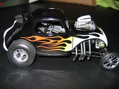 ACME GMP 1:18 Fiat Topolino Altered in Black with Flames.NEW!