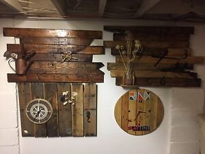 Rustic pallet clocks any size or shape.