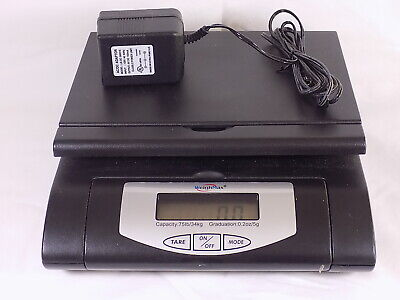 Weigh Max 75 Lb Digital Lcd Postal Shipping Scale With Power Supply W-4819-75