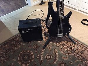 Ibanez Bass Guitar and Amp