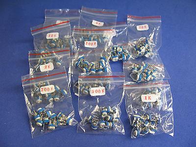 Horizontal Variable Resistor Assorted Kit 13 Value 130pcs Potentiometer