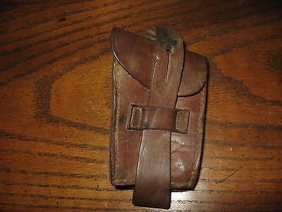 Argentine mauser brown leather ammo pouch 1909 m1909 single