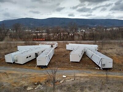 9 Double Wide 24x60 Mobile Office Classroom Modular Trailers - Bulk Purchase