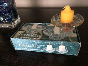 Crystallite candle holders