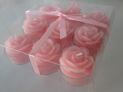 9 Unidad Velas de Té Velas Rosa Rosa Pink Decoración Luces de...