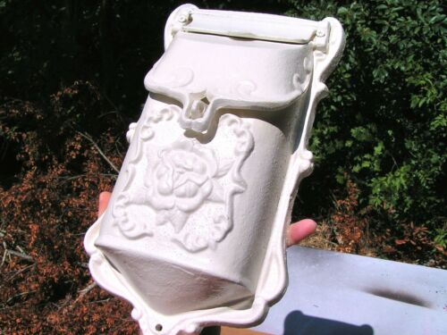 White Cast Iron Victorian style mailbox, suggestion box