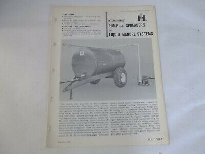 International 1150 1100 Pumpspreaders For Liquid Manure Systems Sales Brochure