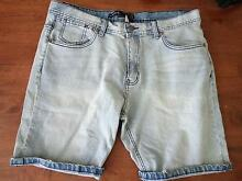 Men's Low Rider Denim Shorts Size 36 West Beach West Torrens Area Preview