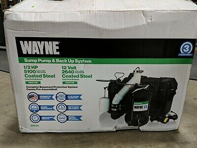 Wayne Sump Pump Backup System - 12 Hp Primary 12v Backup Model Wss30v