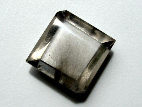 Rare Brookite in Quartz: Beautiful Silvery Needle Spray; 31.79 cts; Brazil
