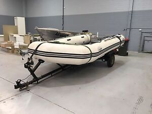 Inflatable Boat 4.1M and Trailer Seven Hills Blacktown Area Preview
