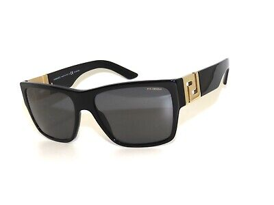 Versace 4296 GB1/81 59 3P Black Polarized Gold Sunglasses Greek Key