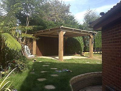 Stunning 4M Wooden Gazebo / Spa / Hot Tub Enclosure - Delivered and Hand-Built