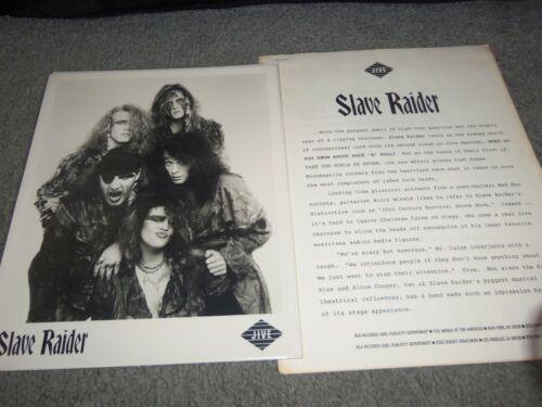 SLAVE RAIDER...8X10 PROMO PHOTO....w/ PRESS..1988...MINNESOTA METAL...THE RAID